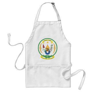 Detalle del escudo de armas de Rwanda Delantales
