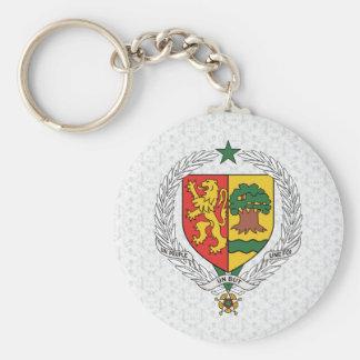 Detalle del escudo de armas de Senegal Llaveros Personalizados