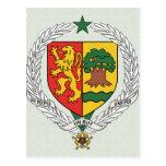 Detalle del escudo de armas de Senegal Postales