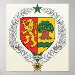 Detalle del escudo de armas de Senegal Poster