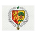 Detalle del escudo de armas de Senegal Tarjeta Postal