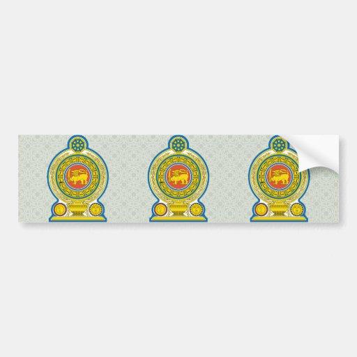 Detalle del escudo de armas de Sri Lanka Pegatina Para Auto