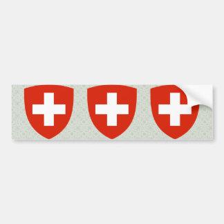 Detalle del escudo de armas de Suiza Pegatina Para Auto