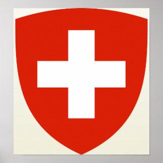 Detalle del escudo de armas de Suiza Impresiones