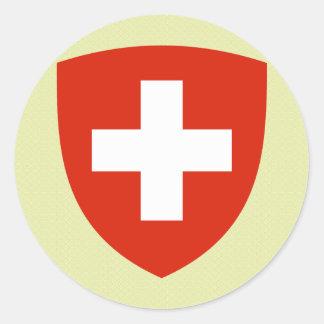Detalle del escudo de armas de Suiza Pegatina Redonda