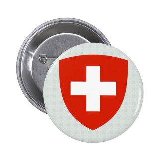 Detalle del escudo de armas de Suiza Pin Redondo De 2 Pulgadas