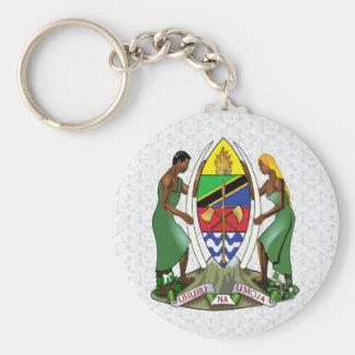 Detalle del escudo de armas de Tanzania Llavero