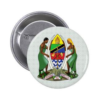 Detalle del escudo de armas de Tanzania Pin