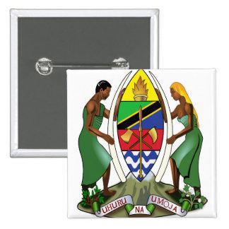 Detalle del escudo de armas de Tanzania Pins