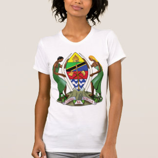 Detalle del escudo de armas de Tanzania Camiseta
