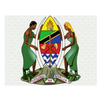 Detalle del escudo de armas de Tanzania Tarjetas Postales