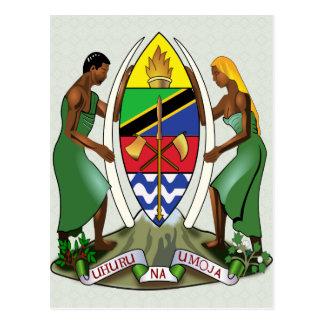 Detalle del escudo de armas de Tanzania Postal