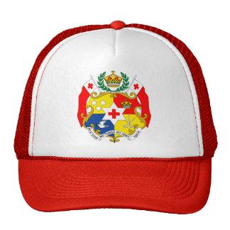 Detalle del escudo de armas de Tonga Gorros Bordados