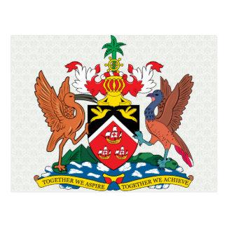 Detalle del escudo de armas de Trinidadandtobago Tarjeta Postal