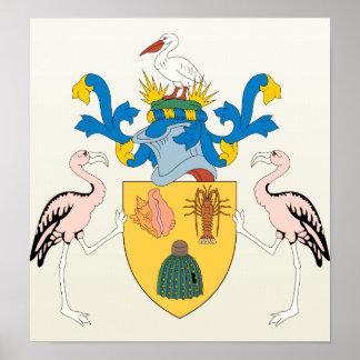 Detalle del escudo de armas de Turks and Caicos Is Impresiones