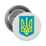 Detalle del escudo de armas de Ucrania Pin