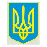 Detalle del escudo de armas de Ucrania Postal