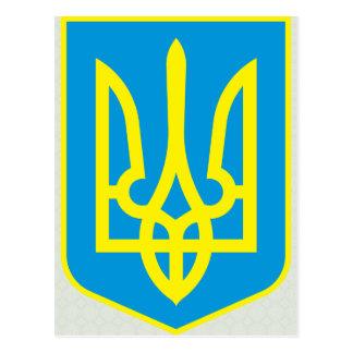 Detalle del escudo de armas de Ucrania Tarjetas Postales