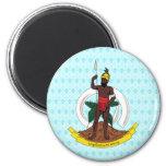 Detalle del escudo de armas de Vanuatu Imán Redondo 5 Cm