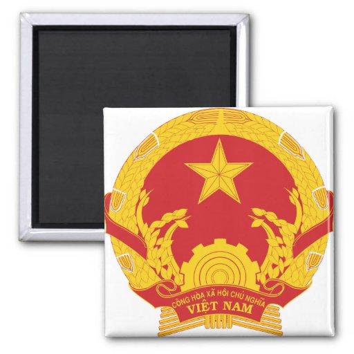 Detalle del escudo de armas de Vietnam Imanes Para Frigoríficos
