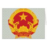 Detalle del escudo de armas de Vietnam Felicitación