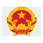 Detalle del escudo de armas de Vietnam Tarjetas Postales