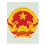 Detalle del escudo de armas de Vietnam Tarjeta Postal