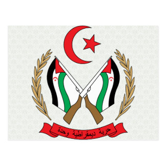 Detalle del escudo de armas de Western Sahara Postales