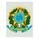 Detalle del escudo de armas del Brasil Postal