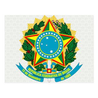Detalle del escudo de armas del Brasil Tarjeta Postal