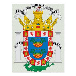 Detalle del escudo de armas del De Melilla del esc Postal