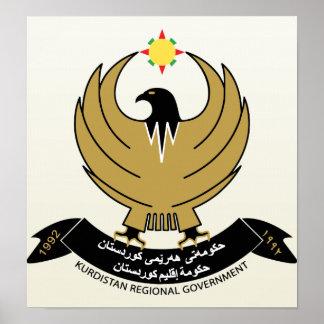 Detalle del escudo de armas del Kurdistan Impresiones