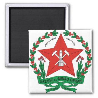 Detalle del escudo de armas del Minas Gerais del B Imán Cuadrado
