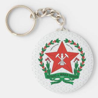 Detalle del escudo de armas del Minas Gerais del B Llavero Personalizado