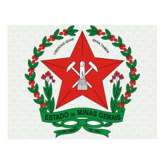 Detalle del escudo de armas del Minas Gerais del B Tarjetas Postales