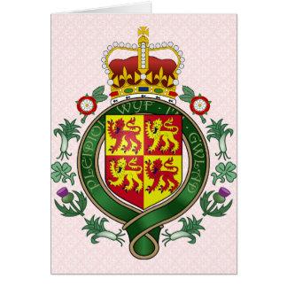 Detalle del escudo de armas Galés Felicitación