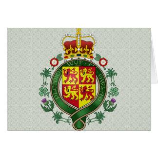 Detalle del escudo de armas Galés Tarjeton