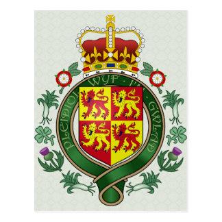 Detalle del escudo de armas Galés Postales