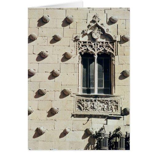 Detalle del exterior de las casas de la Conchas Tarjeton