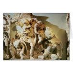 Detalle del friso de una escena de batalla tarjeta de felicitación