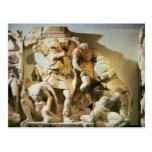 Detalle del friso de una escena de batalla tarjeta postal