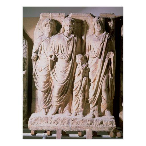 Detalle del friso que muestra los emperadores Hadr Tarjeta Postal