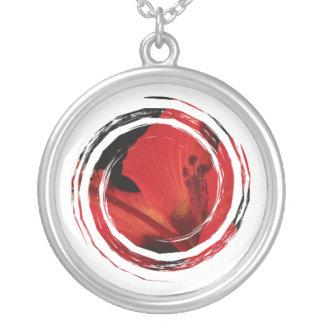 Detalle del hibisco colgante redondo
