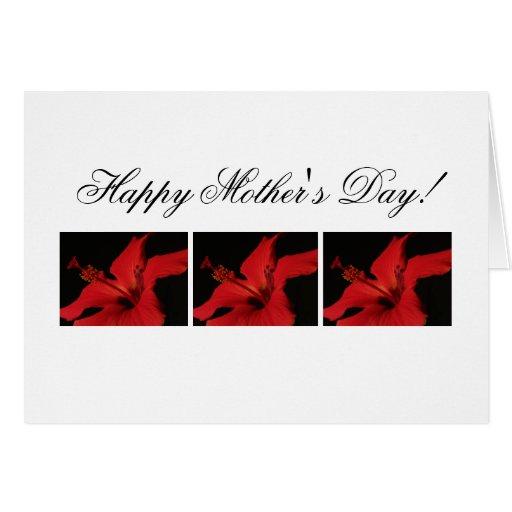 Detalle del hibisco; El día de madre feliz Tarjeta De Felicitación