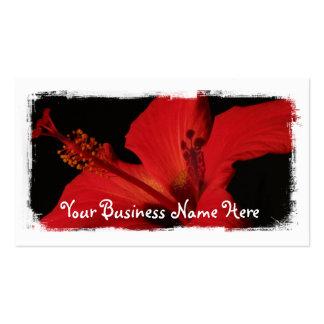 Detalle del hibisco tarjetas de visita