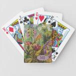 Detalle del jardín de flores baraja de cartas