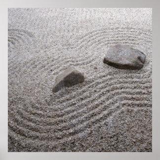 Detalle del jardín del zen posters