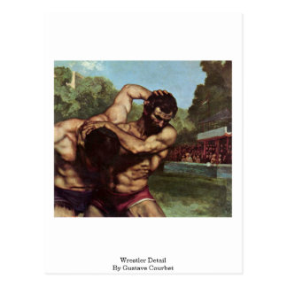 Detalle del luchador de Gustave Courbet Tarjetas Postales