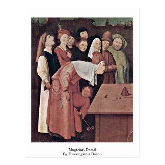 Detalle del mago de Hieronymus Bosch Tarjeta Postal