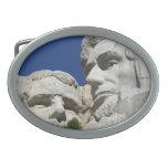 Detalle del monte Rushmore Hebilla De Cinturon Oval
